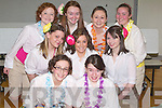 CHORUS: Rehearsing on Saturday at the School for their forthcoming Musical South Pacific were students from Mercy Mounthawk, front l-r: Sharon Williams and Ellen O'Leary. Middle l-r: Samantha Breewood, Michelle Griffin and Michelle Williams. Back l-r: Katelyn Galvin, Sarah Carney, Kelly Griffin and Sarah McAdams.   Copyright Kerry's Eye 2008