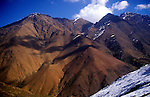 Mountain peaks near Imlil in the Atlas Mountains, Morocco