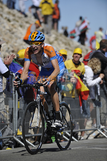 Bradley Wiggins (GBR) Garmin Slipstream close to the finish of Mont Ventoux during Stage19 of the Tour de France 2009 running 167km from Montelimar to Mont Ventoux, France. 25th July 2009 (Photo by Eoin Clarke/NEWSFILE)