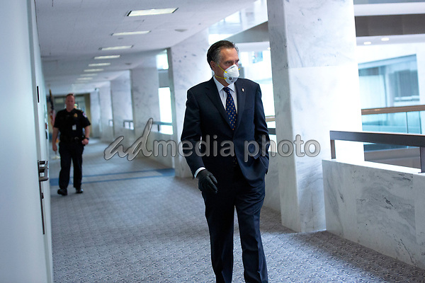 United States Senator Mitt Romney (Republican of Utah) arrives to the Senate GOP Policy Luncheons at the Hart Senate Office Building  in Washington D.C., U.S., on Wednesday, May 20, 2020.  Credit: Stefani Reynolds / CNP/AdMedia