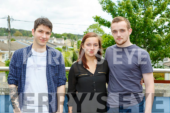 antonio Bazdaric Killarney, Sian Deegan and Dylan Fitzgerald Killorglin  at The Voice auditions in Killarney School of Music on Tuesday
