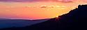 Sunset over the Grinah Stones. Peak District National Park, Derbyshire, UK. January