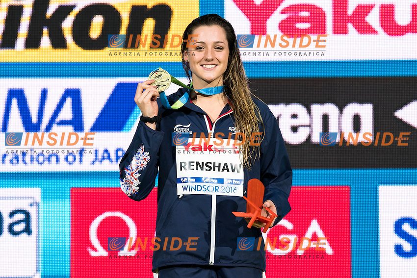 RENSHAW Molly GBR Gold Medal<br /> Women's 200m Breaststroke<br /> 13th Fina World Swimming Championships 25m <br /> Windsor  Dec. 11th, 2016 - Day06 Finals<br /> WFCU Centre - Windsor Ontario Canada CAN <br /> 20161211 WFCU Centre - Windsor Ontario Canada CAN <br /> Photo &copy; Giorgio Scala/Deepbluemedia/Insidefoto