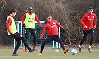 Daichi Kamada (Eintracht Frankfurt), Jetro Willems (Eintracht Frankfurt), Mijat Gacinovic (Eintracht Frankfurt), Aymen Barkok (Eintracht Frankfurt) - 06.03.2018: Eintracht Frankfurt Training, Commerzbank Arena