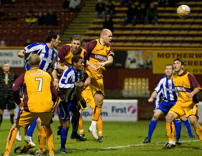 Manuel Pascali heads in to score for Kilmarnock