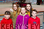 Izzy McGrath, Izabela O'Sullivan, Rebecca McGrath, Holly Barrett, and Conor Tangney at the Killarney on Ice Skating ring on Saturday