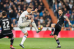 Carlos Henrique Casemiro of Real Madrid fights for the ball with Emre Colak of RC Deportivo La Coruna during the La Liga match between Real Madrid and RC Deportivo La Coruna at the Santiago Bernabeu Stadium on 10 December 2016 in Madrid, Spain. Photo by Diego Gonzalez Souto / Power Sport Images