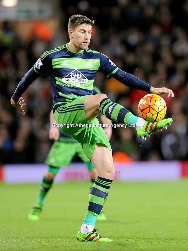 Federico Fernandez of Swansea City during the Barclays Premier League match between West Bromwich Albion and Swansea City at The Hawthorns on the 2nd of February 2016