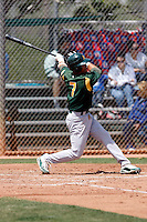 Nino Leyja  - Oakland Athletics - 2009 extended spring training.Photo by:  Bill Mitchell/Four Seam Images