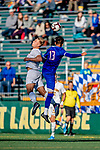 26 October 2019: University of Vermont Catamount Forward Rasmus Tobinski, a Freshman from Kiel, Germany, in second half action against the University of Massachusetts Lowell River Hawks at Virtue Field in Burlington, Vermont. The Catamounts rallied to defeat the River Hawks 2-1, propelling the Cats to the America East Division 1 conference playoffs. Mandatory Credit: Ed Wolfstein Photo *** RAW (NEF) Image File Available ***