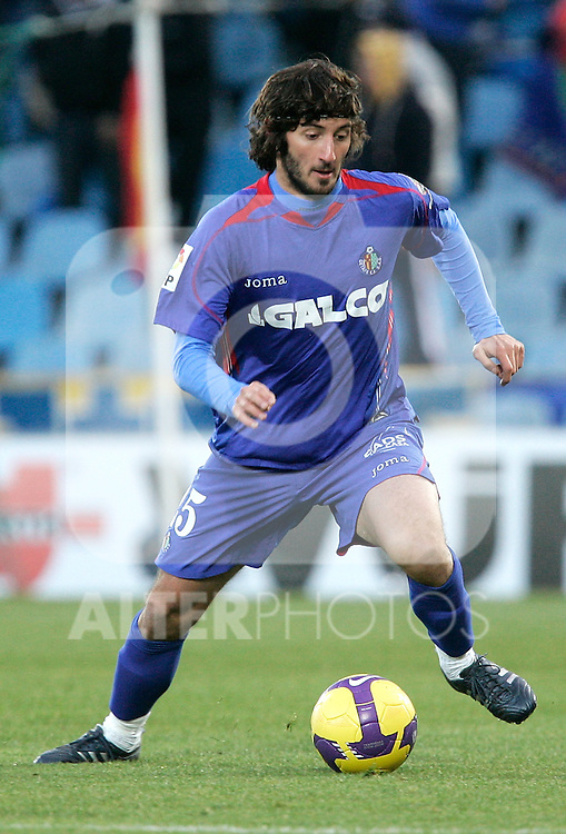 Getafe's Esteban Granero during La Liga match, December 14, 2008. (ALTERPHOTOS).