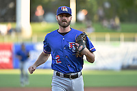 Josh Wilson (2) of the Round Rock Express during the game against the Salt Lake Bees in Pacific Coast League action at Smith's Ballpark on August 21, 2014 in Salt Lake City, Utah.  (Stephen Smith/Four Seam Images)