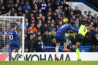 Gonzalo Higuain scores Chelsea's fourth goal during Chelsea vs Huddersfield Town, Premier League Football at Stamford Bridge on 2nd February 2019