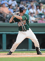 August 13, 2009: Outfielder Robert Taylor (46) of the Greensboro Grasshoppers, Class A affiliate of the Florida Marlins, in a game at Fluor Field at the West End in Greenville, S.C. Photo by: Tom Priddy/Four Seam Images