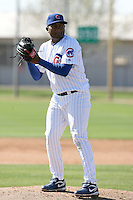 Marcus Mateo. Chicago Cubs spring training workouts at Fitch Park complex, Mesa, AZ - 03/01/2010.Photo by:  Bill Mitchell/Four Seam Images.