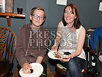 Eoin and Tracy Flanagan pictured at the Drogheda Youth Theatre cake sale in the Droichead Arts Centre. Photo:Colin Bell/pressphotos.ie