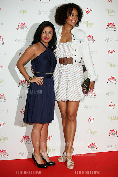 Hayley Tamaddon and Tupele Dorgu arriving for The Roof Gardens - 30th Anniversary Party, Kensington Roof Gardens, west London. 06/06/2011  Picture by: Alexandra Glen / Featureflash