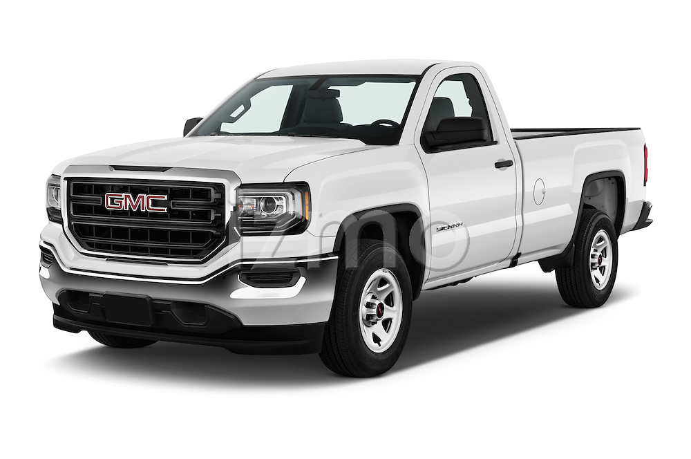 2017 GMC Sierra-1500 Regular-Cab 2 Door Pickup Angular Front stock photos of front three quarter view