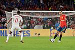 Spain's Sergi Busquets and England's Marcus Rashford during UEFA Nations League 2019 match between Spain and England at Benito Villamarin stadium in Sevilla, Spain. October 15, 2018. (ALTERPHOTOS/A. Perez Meca)