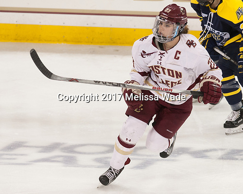 Andie Anastos (BC - 23) - The number one seeded Boston College Eagles defeated the eight seeded Merrimack College Warriors 1-0 to sweep their Hockey East quarterfinal series on Friday, February 24, 2017, at Kelley Rink in Conte Forum in Chestnut Hill, Massachusetts.The number one seeded Boston College Eagles defeated the eight seeded Merrimack College Warriors 1-0 to sweep their Hockey East quarterfinal series on Friday, February 24, 2017, at Kelley Rink in Conte Forum in Chestnut Hill, Massachusetts.