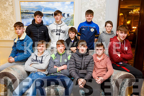 At the  Tralee Parnells Awards night in the Rose Hotel on Friday were front l-r Brian Hamilton, Cathal Dunne, Brian Lanigan, Dara Reen, Jonathan Lowe, Tom O'Farrell, Back l-r Dara Fitzgerald, Rory O'Sullivan, Cathal O'Sullivan, Tadhg Greene and Dara Mallony