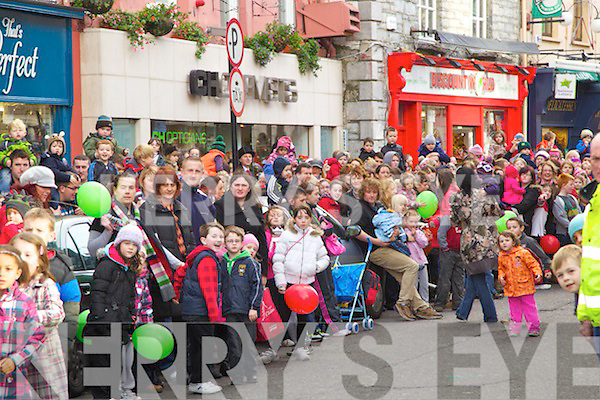 Pictured at the Santa parade in Tralee on Saturday