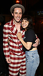 "Reeve Carney and Eva Noblezada during the Actors' Equity Legacy Robe Ceremony honoring T. Oliver Reid for  ""Hadestown"" at the Walter Kerr Theatre on April 17, 2019  in New York City."