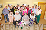 June O'Neill from Letter, Cahersiveen seated front centre celebrated her 70th birthday with family at the Ring of Kerry Hotel on Thursday night last.