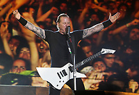 Metallica at the 44th Festival d'ete de Quebec on the Plains of Abraham in Quebec city Saturday July 16, 2011. The Festival d'ete de Quebec is Canada's largest music festival with more than 1000 artists and close to 400 shows over 11 days. The Canadian Press Images PHOTO/Festival d'ete de Quebec