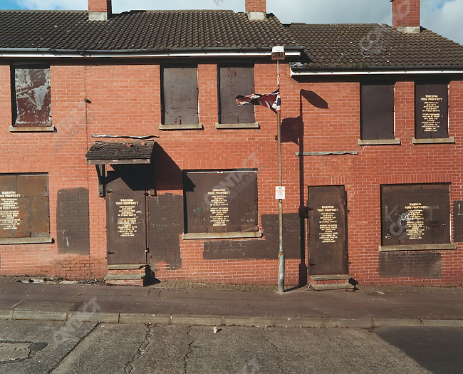 Condemned Protestant Houses, Belfast, Northern Ireland, October 2004