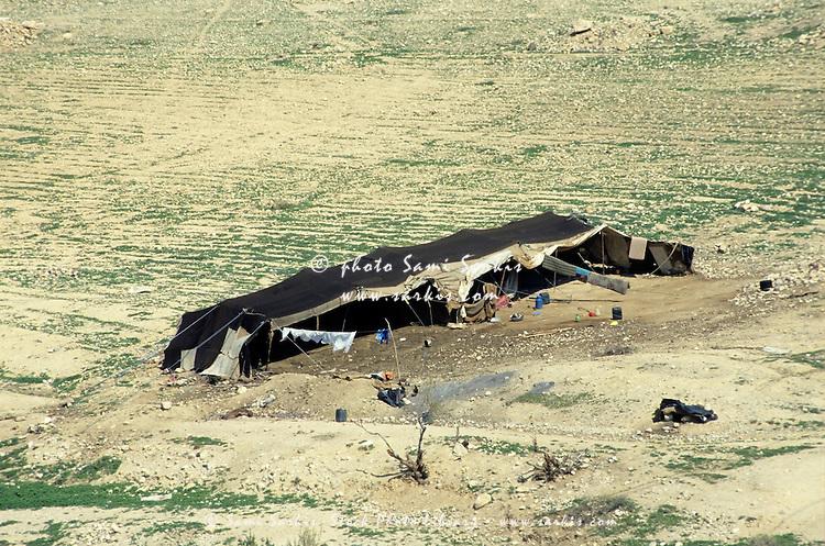 Bedouin tent in the desert, Jordan.