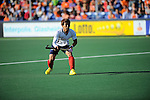 The Hague, Netherlands, June 01: Jonghyun Jang #25 of Korea passes the ball during the field hockey group match (Men - Group B) between the Black Sticks of New Zealand and Korea on June 1, 2014 during the World Cup 2014 at GreenFields Stadium in The Hague, Netherlands. Final score 2:1 (1:0) (Photo by Dirk Markgraf / www.265-images.com) *** Local caption ***