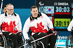 Pyeongchang, Korea, 17/3/2018-Dennis Thiessen and Mark Ideson competes in the bronze medal game of wheelchair curling during the 2018 Paralympic Games. Photo: Scott Grant/Canadian Paralympic Committee.