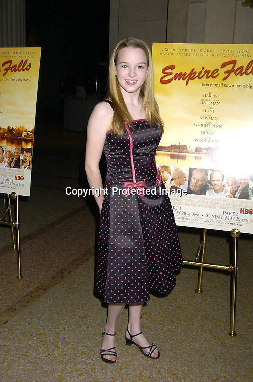 """Kay Panabaker of Summerland..at a screening of an HBO Film """"Empire Falls"""" on ..May 9, 2005 at the Metropolitan Museum of Art. ..Photo by Robin Platzer, Twin Images"""