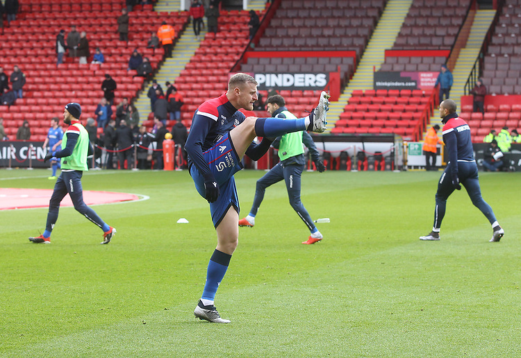 Bolton Wanderers players warm up<br /> <br /> Photographer Mick Walker/CameraSport<br /> <br /> The EFL Sky Bet Championship - Sheffield United v Bolton Wanderers - Saturday 2nd February 2019 - Bramall Lane - Sheffield<br /> <br /> World Copyright © 2019 CameraSport. All rights reserved. 43 Linden Ave. Countesthorpe. Leicester. England. LE8 5PG - Tel: +44 (0) 116 277 4147 - admin@camerasport.com - www.camerasport.com