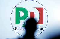 Logo del Partito Democratico<br /> Roma 19-02-2017. Assemblea Nazionale del Partito Democratico. <br /> Rome February 19th 2017. National Assembly of Democratic Party<br /> Foto Samantha Zucchi Insidefoto