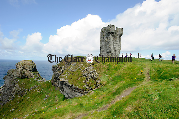 General view of Hags Head during the Weightwatchers/Clare Champion Liscannor to Cliffs of Moher coastal walk. Photograph by John Kelly.