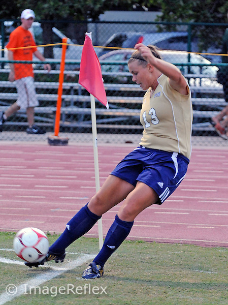 Florida International University women's soccer player midfielder Marina Pappas (13) plays against the University of Miami which won the game 2-1 on August 29, 2008 at Miami, Florida. .