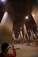 Water Discharge Tunnel on The Outskirts of the Metropolitan Area, Saitama-pref, Japan, November 17, 2010.