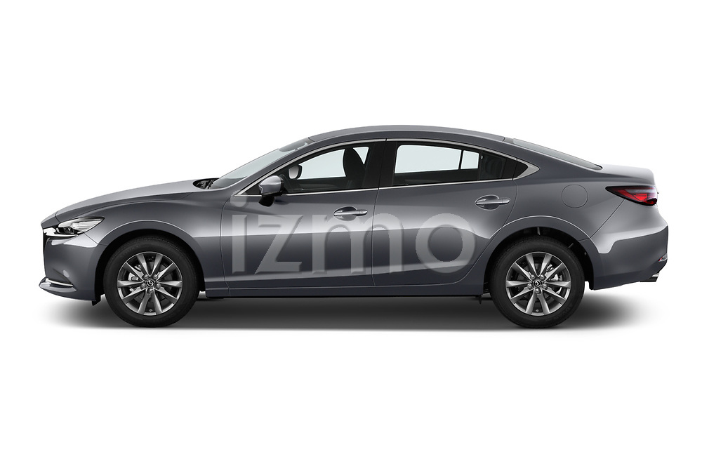 Car Driver side profile view of a 2018 Mazda Mazda6 Dynamique 4 Door Sedan Side View
