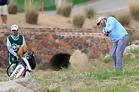 JB Holmes (USA) on the 3rd tee during the 3rd round of the Waste Management Phoenix Open, TPC Scottsdale, Scottsdale, Arisona, USA. 02/02/2019.<br /> Picture Fran Caffrey / Golffile.ie<br /> <br /> All photo usage must carry mandatory copyright credit (© Golffile | Fran Caffrey)