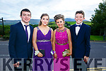 Enjoying the Killarney secondary schools Debs at Ballyroe Heights Hotel on Monday were Michael O'Connor, Megan Duggan, Katie O'Niell and Michael Ahern