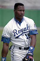 Kansas City Royals Bo Jackson (16) during spring training circa 1990 at Baseball City Stadium in Davenport, Florida.  (MJA/Four Seam Images)