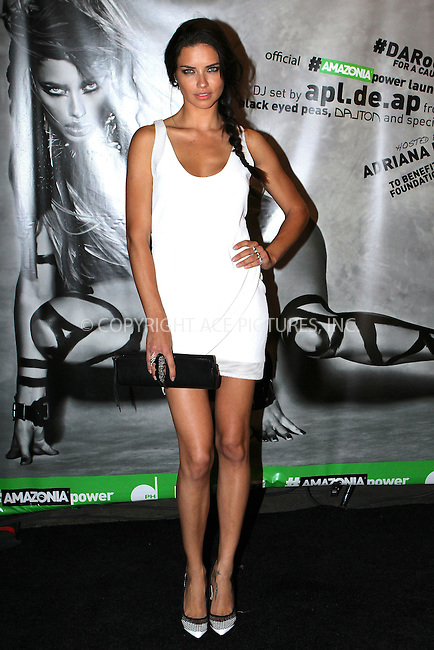 ACEPIXS.COM<br /> <br /> May 31 2014, New York City<br /> <br /> Model Adriana Lima at the Amazonia Beverages' Urban Jungle Campaign Kickoff at Dream Downtown on May 31, 2014 in New York City<br /> <br /> <br /> By Line: Nancy Rivera/ACE Pictures<br /> <br /> ACE Pictures, Inc.<br /> www.acepixs.com<br /> Email: info@acepixs.com<br /> Tel: 646 769 0430