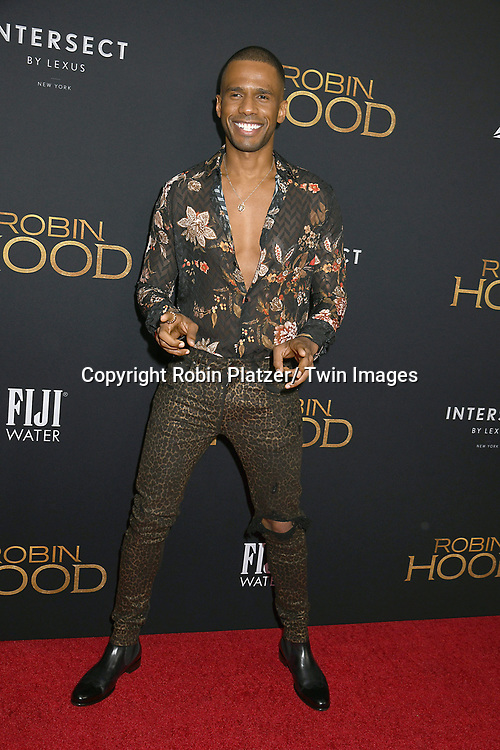"Eric West attends the New York Special Screening of ""Robin Hood"" on November 11, 2018 at AMC Lincoln Square in New York, New York, USA.<br /> <br /> photo by Robin Platzer/Twin Images<br />  <br /> phone number 212-935-0770"
