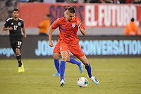 EAST RUTHERFORD, NJ - SEPTEMBER 7: Aaron Long #3 of the United States kicks the ball during a game between Mexico and USMNT at MetLife Stadium on September 6, 2019 in East Rutherford, New Jersey.