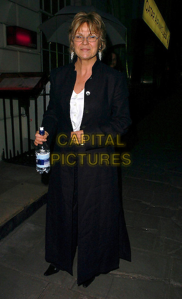"JULIE WALTERS.After Party for the  UK Film Premiere of ""Wah Wah"", .Sketch, London, England, .May 30th 2006..full length glasses holding bottle of water.Ref: CAN.www.capitalpictures.com.sales@capitalpictures.com.©Can Nguyen/Capital Pictures"