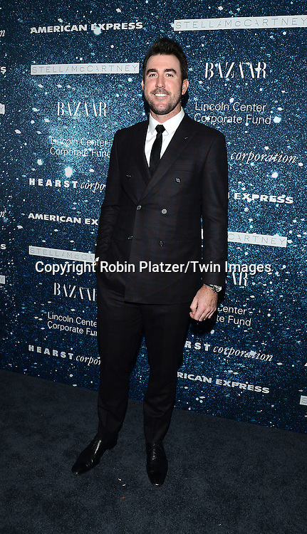 Justin Verlander attend the Stella McCartney Honored Lincoln Center Gala on November 13, 2014 at Alice Tully Hall in New York City, USA. She was given the Women's Leadership Award which was presented bythe LIncoln Center for the Performing Arts' Corporate Fund.<br /> <br /> photo by Robin Platzer/Twin Images<br />  <br /> phone number 212-935-0770