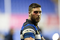 A bloodied Matt Banahan of Bath Rugby looks on after the match. Aviva Premiership match, between London Irish and Bath Rugby on November 19, 2017 at the Madejski Stadium in Reading, England. Photo by: Patrick Khachfe / Onside Images
