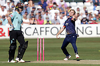 Adam Zampa in bowling action for Essex during Essex Eagles vs Surrey, Vitality Blast T20 Cricket at The Cloudfm County Ground on 5th August 2018